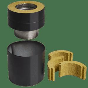 Kopplingsstycken för toppansluten och bakansluten skorsten