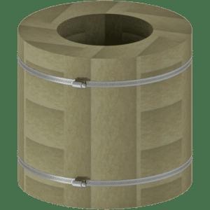 Isolering för bjälklagsgenomförning
